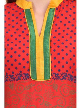 Kyla F Ryon Printed Kurti - Orange - KYL5020