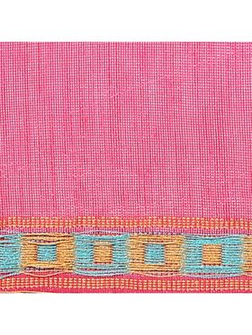 Kyla F Art Silk Printed Saree - Pink - KYLSAREE049
