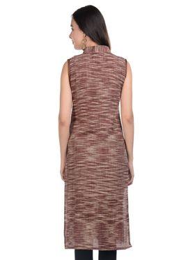 Lavennder Khadi Striped Kurti -LK-9621396
