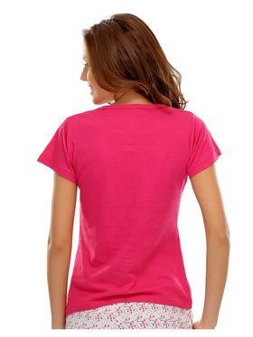 Clovia Blended Printed T-Shirt -LT0020P14