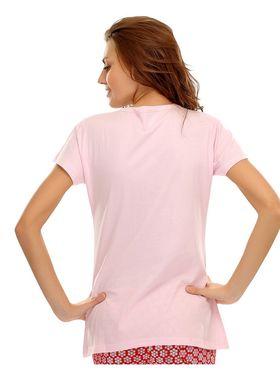 Clovia Cotton Printed T-Shirt -LT0020P22
