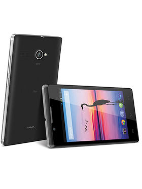 Lava Flair P1 4 Inch Display, Kitkat, 3G With 2GB Internal Memory - Black