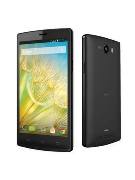 LAVA IRIS Alfa smart phone 5 inch IPS, Android Kitkat, 1GB RAM, 8GB ROM - Black