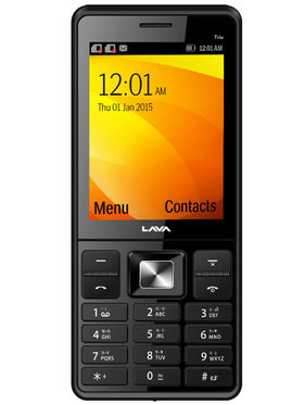 Lava KKT Trio Triple Sim Phone - Black & Grey