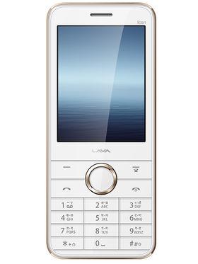 Lava Spark Icon Dual Sim Phone - White & Gold
