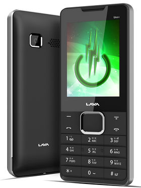 Lava KKT Uno+ Dual Sim Phone - Black & Silver