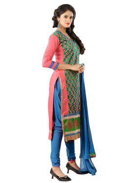 Khushali Fashion Glaze Cotton Embroidered Dress Material -Mcrdmhk801