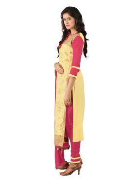Khushali Fashion Glaze Cotton Embroidered Dress Material -Mcrdmhk812