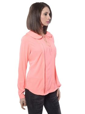 Meira Poly Crepe Solid-Top - Orange - MEWT-1177