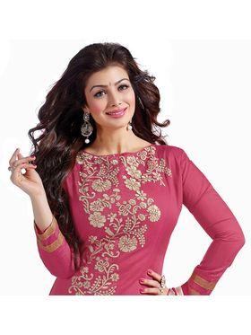 Khushali Fashion Chanderi Embroidered Dress Material -Mfdrmg5307