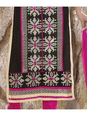 Viva N Diva Chanderi Silk Embroidered Unstitched Dress Material Mariyaam-1007