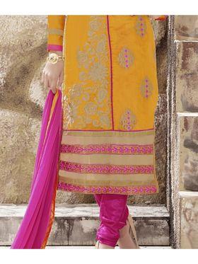 Viva N Diva Chanderi Silk Embroidered Unstitched Dress Material Mariyaam-1012