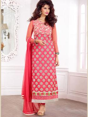 Viva N Diva Pure Georgette Embroidered Unstitched Suit Mehreem-7773