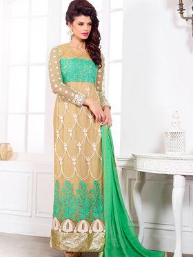 Viva N Diva Pure Georgette Embroidered Unstitched Suit Mehreem-7774