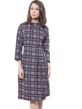 Meira Printed Poly Crepe Women's Dress - Multicolour _ MEWT-1094-B-Multi