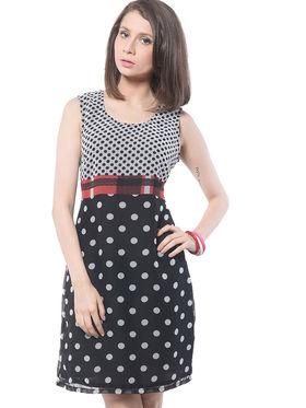 Meira Printed Poly Georgette Women's Dress - Multicolour _ MEWT-1136-C-Multi