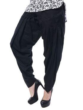Meira Cotton Patiala Solid Salwar - Black _MEPAT-1159-A