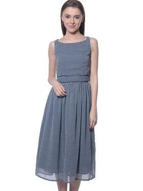 Meira Georgette Printed Dress - Multicolor - MEWT-1169-B-Multi