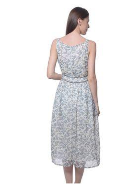 Meira Georgette Printed Dress - Multicolor - MEWT-1169-C-Multi