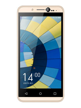 Hitech Air A3 4.5 Inch Quad Core 3G Android Kitkat Smartphone - Black & Golden