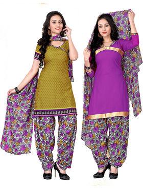Khushali Fashion Crepe Printed 2 Style Dress Material -NKFSKS77015
