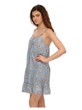 Clovia Blended Cotton Printed Nightsuit -NS0392P03