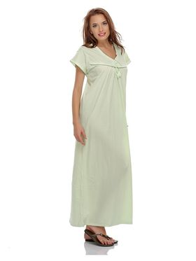 Clovia Cotton Blend Solid Nightsuit -NS0397P11