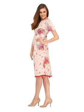 Clovia Crepe Printed Nightsuit -NS0537P18