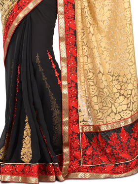Zuri Dazzling Designer Embroidered Sarees - Select Any 1