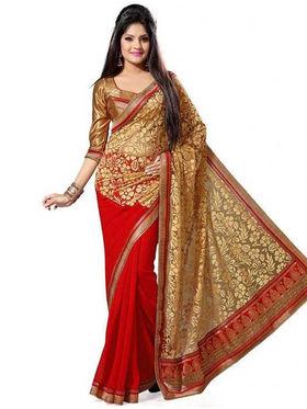 Nanda Silk Mills Brasso Embroiderd Saree Nirja
