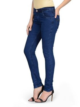 Oleva Combo Of  2 Blue Denim And Black Spaghetti  ONC-21
