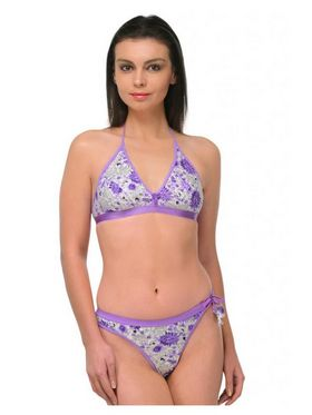 Oleva Cotton Printed Bikini Set - Purple - OLG_B_BP_5