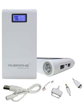 Ambrane Power Bank P-1500 (15600mAh) - White