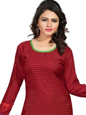 Khushali Fashion Crepe  Printed Unstitched Dress Material -PFCS509