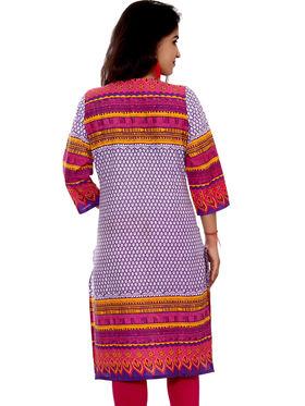 Set of 2 Priya Fashions Pure Cotton Jaipuri Printed Kurtis - PF102K2