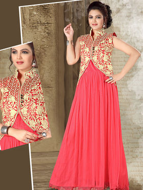 Viva N Diva Net Floral Embroidery Gowns -Purvi-3011