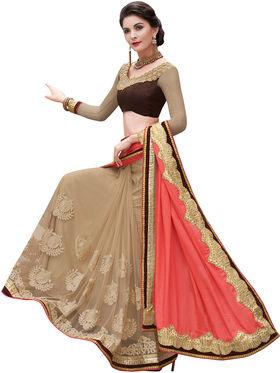 Indian Women Satin Chiffon And Net  Saree -Ra10514