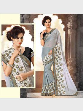 Viva N Diva Chiffon Floral Embroidery Saree -Riwaaz-Again-9004