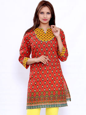 Combo of 4 Bazar Villa Cotton Printed Kurtis - BCE2063_42