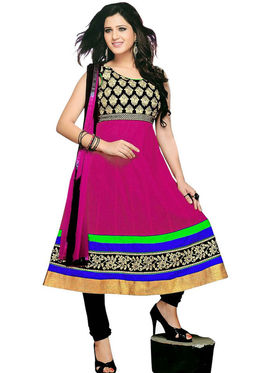 Combo of 3 Florence Embroidered Chiffon Dress Material SB-2778