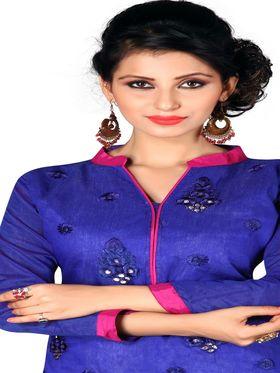 Khushali Fashion Chanderi Embroidered Unstitched Dress Material -SDSN8004