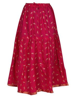 Amore Printed Cotton Skirt -Skv015P