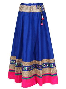Amore Plain Cotton Embellished Skirt -Skv076Rb