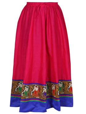 Amore Plain Cotton Embellished Skirt -Skv115P