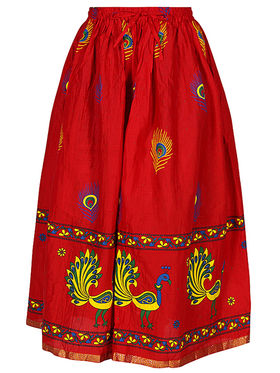 Amore Printed Cotton Skirt -Skv145R