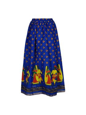Amore Printed Cotton Skirt -Skv182P