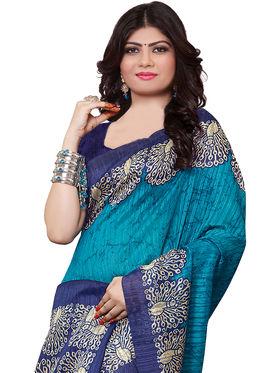 Shonaya Printed Handloom Cotton Silk Saree -Snkvs-3007-B