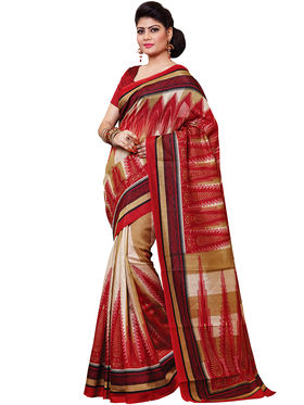 Shonaya Printed Handloom Cotton Silk Saree -Snkvs-3008-A