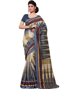 Shonaya Printed Handloom Cotton Silk Saree -Snkvs-3008-B