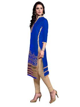 Khushali Fashion Glaze Cotton Embroidered Dress Material -Srsrh7502